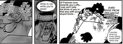 Since I have yet to see a female Fishman I can only assume this is what goes on in the deepest darkest depths of the sea. 0_0