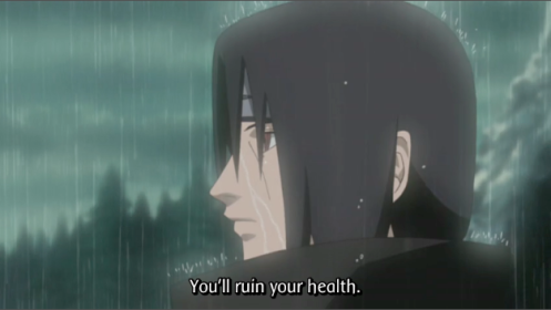 Kisame... so you do care after all. You softy! T_T