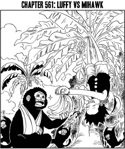Who else thinks the monkey got that broken arm trying to take Luffy's bananas without permission?