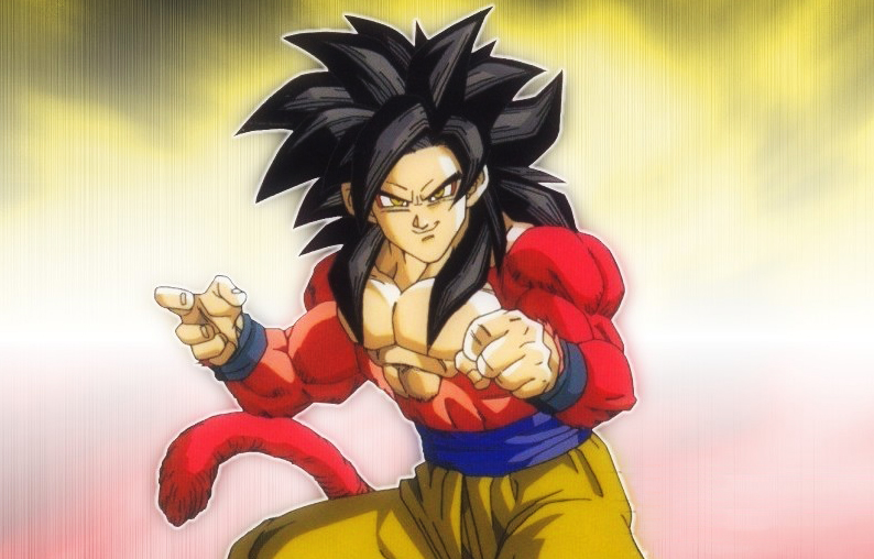 super saiyan level 4 goku. Even the red fur Goku sports in Super Saiyan 4 can be linked to the