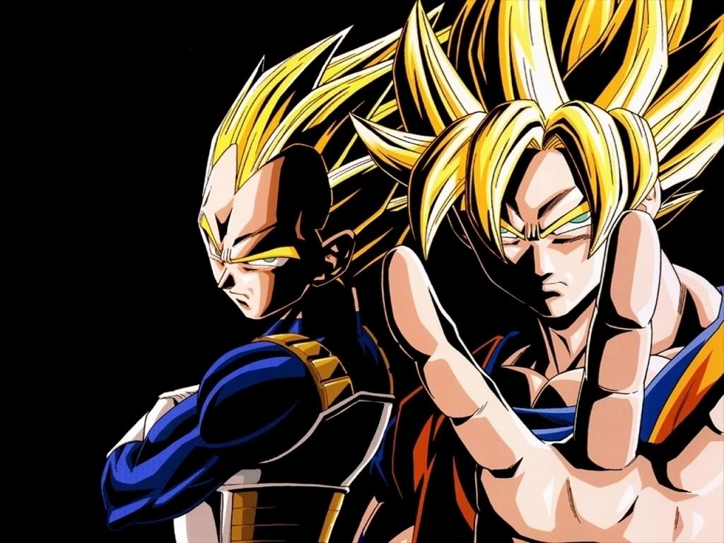 super saiyan 4 goku and vegeta. Powerful rivals, Goku and