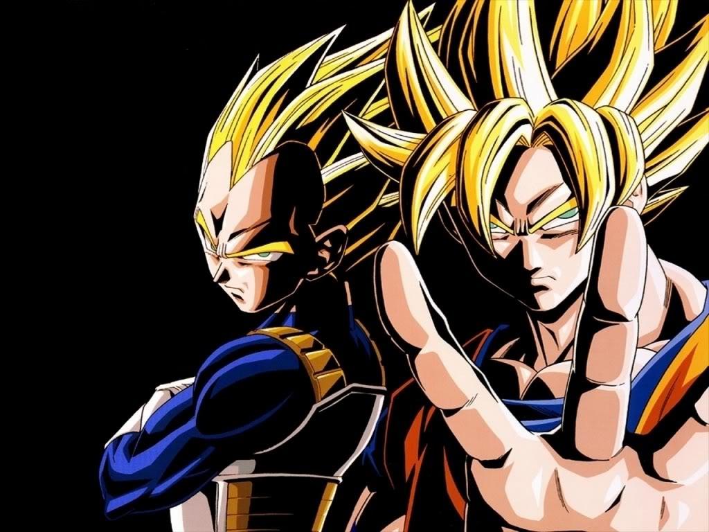 super saiyan 4 goku and vegeta. Powerful rivals, Goku and