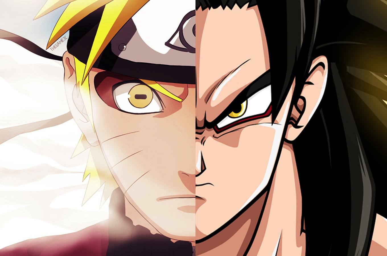 naruto and goku super saiyan 4 and sage mode eerie similarities