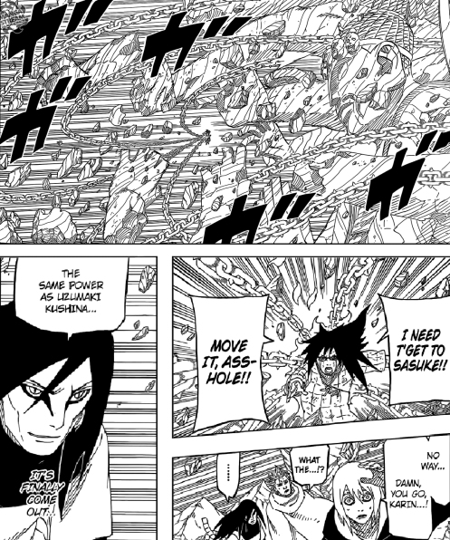 I'm sure Kakashi's rampage might have been something like this, if we ever had the pleasure of witnessing it.