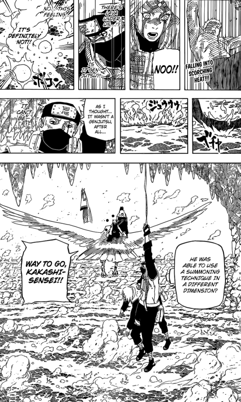 Even without the Sharingan, Kakashi proves to be observant.
