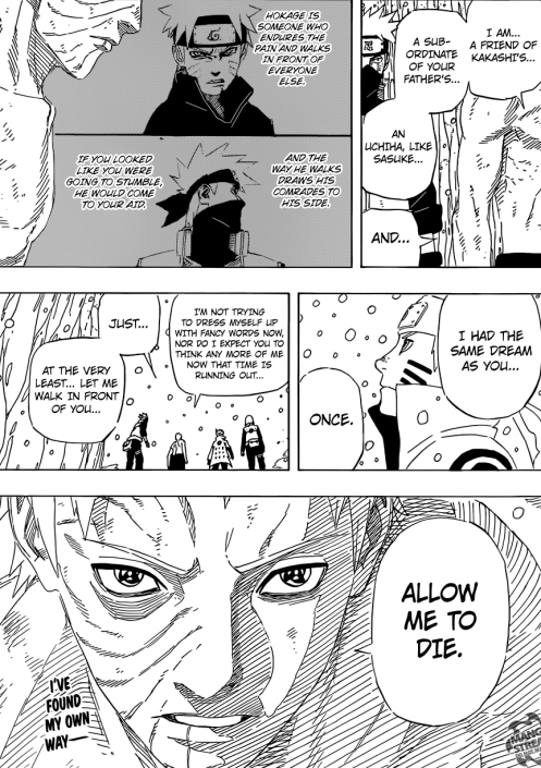 I guess Obito's keeping in line with the Akatsuki member's suicidal tendancies.